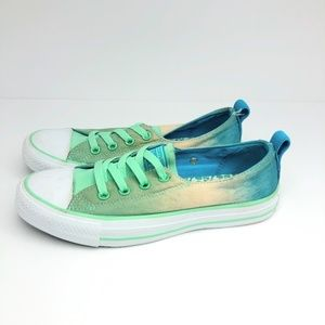Youth Converse Blue Green Chuck Taylor Sneaker 6